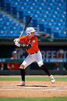 Max McGwire (12) of Capistrano Valley High School in Irvine, CA during the Perfect Game National Showcase at Hoover Metropolitan Stadium on June 19, 2020 in Hoover, Alabama. (Mike Janes/Four Seam Images)