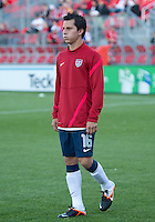 03 June 2012: US Men's National Soccer Team midfielder José Francisco Torres  #16 in action during the warm-up in an international friendly  match between the United States Men's National Soccer Team and the Canadian Men's National Soccer Team at BMO Field in Toronto..The game ended in 0-0 draw..