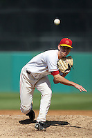 March 7 2010: Ben Mount of USC during game against University of New Mexico at Dedeaux Field in Los Angeles,CA.  Photo by Larry Goren/Four Seam Images