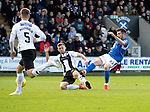 St Mirren v St Johnstone…19.10.19   St Mirren Park   SPFL<br />Matty Kennedy drags his shot wide<br />Picture by Graeme Hart.<br />Copyright Perthshire Picture Agency<br />Tel: 01738 623350  Mobile: 07990 594431