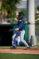 Lakeland Flying Tigers Kody Clemens (8) bats during a Florida State League game against the Dunedin Blue Jays on April 18, 2019 at Jack Russell Memorial Stadium in Clearwater, Florida.  Dunedin defeated Lakeland 6-2.  (Mike Janes/Four Seam Images)