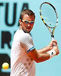 Viktor Troicki during Madrid Open Tennis 2015 match.May, 5, 2015.(ALTERPHOTOS/Acero)