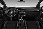 Stock photo of straight dashboard view of 2019 Volkswagen Golf R 5 Door Hatchback Dashboard