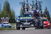 Iljo Keisse (BEL/QuickStep Floors) tucked in while descending the Passo Monte Croce Comelico / Kreuzbergpass (1636m)<br /> <br /> Stage 19: San Candido/Innichen › Piancavallo (191km)<br /> 100th Giro d'Italia 2017