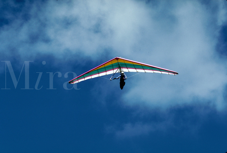 Hang glider, Chateau d'Oeux, Switzerland