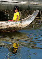 Life on the Tonle Sap Lake, houses on stilts, and living on the water, Cambodia,