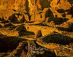 Ruins, Pueblo Bonito, Chaco Culture National Historical Park, New Mexico