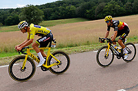 2nd July 2021; Le Creusot, France;  VAN DER POEL Mathieu (NED) of ALPECIN - FENIX and VAN AERT Wout (BEL) of JUMBO-VISMA during stage 7 of the 108th edition of the 2021 Tour de France cycling race, a stage of 249,1 kms between Vierzon and Le Creusot