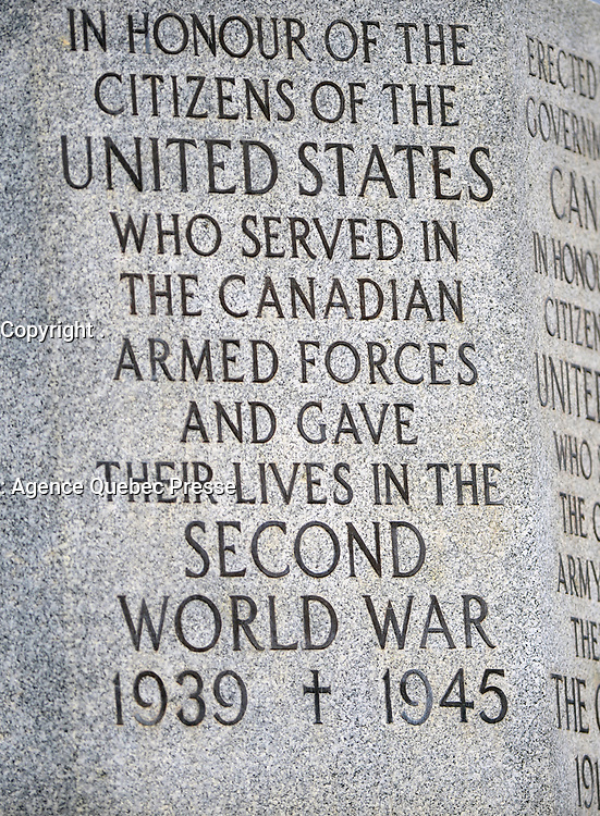 Canadian Cross of Sacrifice located at Arlington National Cemetery, Virginia. (Department of Defense photo by Marvin Lynchard)