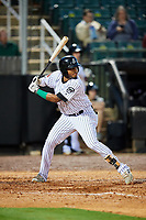Jackson Generals shortstop Dawel Lugo (31) at bat during a game against the Chattanooga Lookouts on April 27, 2017 at The Ballpark at Jackson in Jackson, Tennessee.  Chattanooga defeated Jackson 5-4.  (Mike Janes/Four Seam Images)