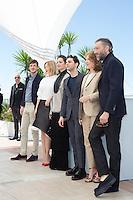 GASPARD ULLIEL, LEA SEYDOUX, MARION COTILLARD, XAVIER DOLAN, NATHALIE BAYE, VINCENT CASSEL - PHOTOCALL DU FILM 'JUSTE LA FIN DU MONDE' - 69EME FESTIVAL DU FILM DE CANNES