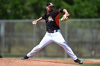 Miami Marlins pitcher Max Garner (54) during a minor league spring training game against the St. Louis Cardinals on March 31, 2015 at the Roger Dean Complex in Jupiter, Florida.  (Mike Janes/Four Seam Images)