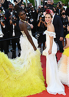 CANNES, FRANCE. July 8, 2021: Jodie Turner-Smith & Haley Lu Richardson at the Stillwater Premiere at the 74th Festival de Cannes.<br /> Picture: Paul Smith / Featureflash