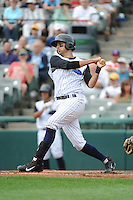 Trenton Thunder  infielder Dan Fiorito (20) during game against the Altoona Curve at ARM & HAMMER Park on August 6, 2014 in Trenton, NJ.  Trenton defeated Altoona 7-3.  (Tomasso DeRosa/Four Seam Images)