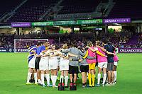 Orlando, FL - Saturday October 12, 2019: Reign F.C.  , Orlando Pride vs Reign FC Stars at Exploria Stadium.
