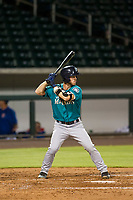 AZL Mariners shortstop Louis Boyd (2) at bat against the AZL Cubs on August 4, 2017 at Sloan Park in Mesa, Arizona. AZL Cubs defeated the AZL Mariners 5-3. (Zachary Lucy/Four Seam Images)