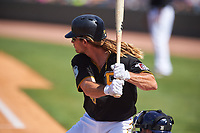 Pittsburgh Pirates John Jaso (28) at bat during a Spring Training game against the Tampa Bay Rays on March 10, 2017 at LECOM Park in Bradenton, Florida.  Pittsburgh defeated New York 4-1.  (Mike Janes/Four Seam Images)
