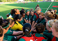 St. Louis Athletica players prepare for their WPS match against FC Gold Pride at Korte Stadium, in St. Louis, MO, May 9 2009. St. Louis Athletica won the match 1-0.