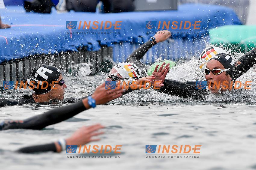 GABBRIELLESCHI Giulia, BRUNI Rachele ITA<br /> Team Event 5 km<br /> Open Water<br /> Budapest  - Hungary  15/5/2021<br /> Lupa Lake<br /> XXXV LEN European Aquatic Championships<br /> Photo Andrea Staccioli / Deepbluemedia / Insidefoto