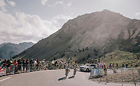 2 Team Fortuneo - Oscaro riders  together up the Col d'Izoard (HC/2360m/14.1km/7.3%)<br /> <br /> 104th Tour de France 2017<br /> Stage 18 - Briancon › Izoard (178km)