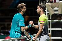 Rotterdam, Netherlands, 12 Februari, 2018, Ahoy, Tennis, ABNAMROWTT, Andreas Seppi (ITA) (L) defeats Joao Sousa (POR)<br /> Photo:tennisimages.com