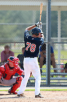 Minnesota Twins minor league outfielder Nate Roberts during a game vs. the Boston Red Sox in an Instructional League game at Lee County Sports Complex in Fort Myers, Florida;  October 1, 2010.  Photo By Mike Janes/Four Seam Images