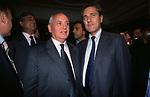 MIKHAIL GORBACIOV CON FRANCESCO RUTELLI<br /> COCKTAIL PARTY N ONORE DI GORBACIOV - HOTEL BAGLIONI ROMA 11-2000