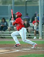 Kevin Maitan - Los Angeles Angels 2019 spring training (Bill Mitchell)