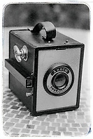 An Ansco Shur-Flash medium format 620 film camera, Photographed on TMAX 3200 film rated at ISO400 using a Practice LTL3 SLR 35mm film camera(Photo by Brian Cleary/bcpix.com)