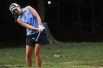 Duramed Futures Tours' Paola Moreno from Cali, Colombia chips in the ball onto the 14th green at the Alliance Bank Golf Classic in Syracuse NY.