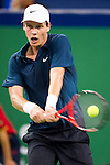 SHANGHAI, CHINA - OCTOBER 12:  Tomas Berdych of Czech Republic returns a ball to Tommy Robredo of Spain during day two of the 2010 Shanghai Rolex Masters at the Shanghai Qi Zhong Tennis Center on October 12, 2010 in Shanghai, China.  (Photo by Victor Fraile/The Power of Sport Images) *** Local Caption *** Tomas Berdych