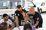 UAE Team Emirates team briefing before sign on at the start of Stage 6 of the 2021 UAE Tour running 165km from Deira Island to Palm Jumeirah, Dubai, UAE. 26th February 2021.  <br /> Picture: Eoin Clarke   Cyclefile<br /> <br /> All photos usage must carry mandatory copyright credit (© Cyclefile   Eoin Clarke)