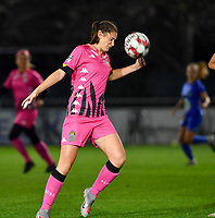 Noemie Fourdin (11 Charleroi) pictured during a female soccer game between  AA Gent Ladies and Sporting Charleroi Feminin on the fifth matchday of the 2020 - 2021 season of Belgian Scooore Womens Super League , friday 16 th of October 2020  in Oostakker , Belgium . PHOTO SPORTPIX.BE | SPP | DAVID CATRY