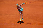 Petra Kvitova from Czech Republic during her Madrid Open tennis tournament match against Serena Williams from USA in Madrid, Spain. May 08, 2015. (ALTERPHOTOS/Victor Blanco)