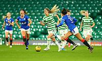 21st April 2021; Celtic Park, Glasgow, Scotland; Scottish Womens Premier League, Celtic versus Rangers; Sarah Teegarden of Celtic Women breaks through the Rangers defense on the ball