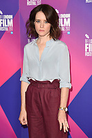 """Claire Foy<br /> at the photocall for the London Film Festival 2017 screening of """"Breathe"""" at the Mayfair Hotel, London<br /> <br /> <br /> ©Ash Knotek  D3317  04/10/2017"""