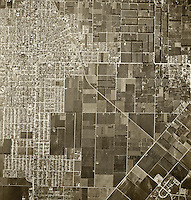 historical aerial photograph Santa Ana, California, 1946