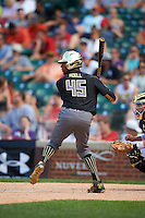 Jordon Adell (45) of Ballard High School in Louisville, Kentucky during the Under Armour All-American Game on August 15, 2015 at Wrigley Field in Chicago, Illinois. (Mike Janes/Four Seam Images)