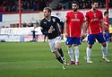Dundee's Martin Boyle celebrates after he scores their fourth goal.