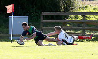 Saturday 26th September 2020 | Malone vs Ballynahinch<br /> <br /> Connor Phillips scores the fifth try for Ballynahinch during the Ulster Senior League fixture between Malone and Ballynahinch at Gibson Park, Belfast, Northern Ireland. Photo by John Dickson / Dicksondigital