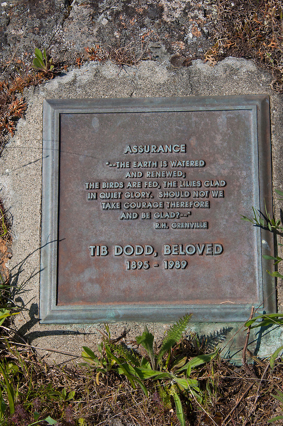 Tib Dodd Grave Site and Plaque, Yellow Island, San Juan Islands, Washington, US