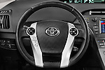 Car pictures of steering wheel view of a 2015 Toyota Prius Comfort 5 Door Hatchback Steering Wheel