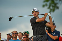6th June 2021; Dublin, Ohio, USA; Patrick Cantlay (USA) watches his tee shot on 11 during the Memorial Tournament final round at Muirfield Village Golf Club