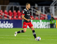 WASHINGTON, DC - MAY 13: Frederic Brillant #13 of D.C. United dribbles the ball during a game between Chicago Fire FC and D.C. United at Audi FIeld on May 13, 2021 in Washington, DC.