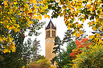 Fall colors bloom around the Campanile on the campus of Iowa State University in Ames, Iowa. (Christopher Gannon/Gannon Visuals)