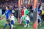 Atletico de Madrid Jan Oblak and FC Copenhague Stephan Andersen during Europa League match between Atletico de Madrid and FC Copenhague at Wanda Metropolitano in Madrid , Spain. February 22, 2018. (ALTERPHOTOS/Borja B.Hojas)