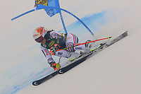 17th October 2020, Rettenbachferner, Soelden, Austria; FIS World Cup Alpine Skiing ladies downhill; Coralie Frasse Sombet (FRA) in foggy conditions