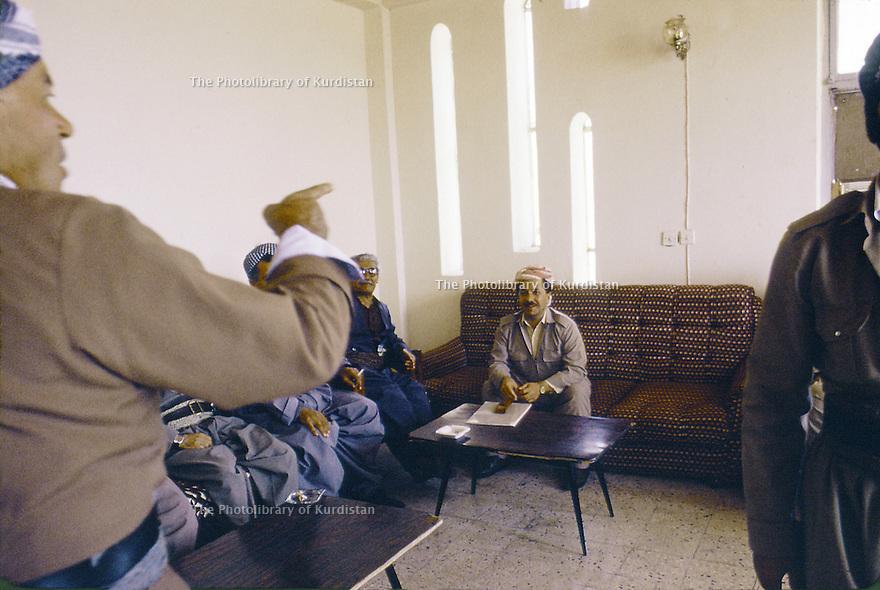 Irak 1991  Réunion avec Massoud Barzani  Iraq 1991 Meeting with Massoud Barzani