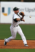 """University of South Florida Luis Llerena #2 during a game vs. the Miami Hurricanes in the """"Florida Four"""" at George M. Steinbrenner Field in Tampa, Florida;  March 1, 2011.  USF defeated Miami 4-2.  Photo By Mike Janes/Four Seam Images"""