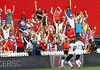 WASHINGTON, DC - June 02 2013: USA MNT v Germany MNT in the US Soccer Centennial match at RFK Stadium, in Washington DC.Fans after Altidore goal. USA won 4-3.
